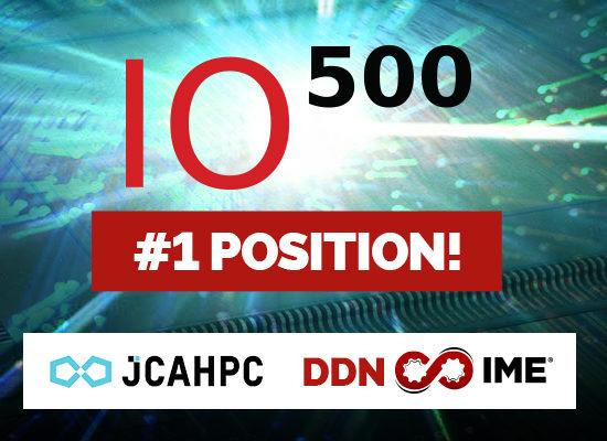 DDNの顧客 最先端共同HPC基盤施設(JCAHPC)が 新設の「IO-500」にて第1位を獲得