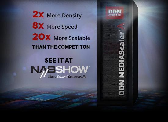 DDN、イマーシブ/従来型コンテンツの制作や グローバル配信を加速する コンバージドアプライアンス製品をNAB Show 2017で展示