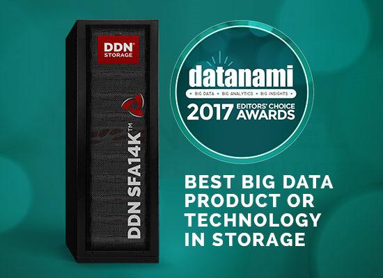 DDN、ビッグデータストレージ製品・技術で 最優秀賞を獲得  Datanamiが選定する「Second Annual Datanami Readers' and  Editors' Choice Awards」で受賞