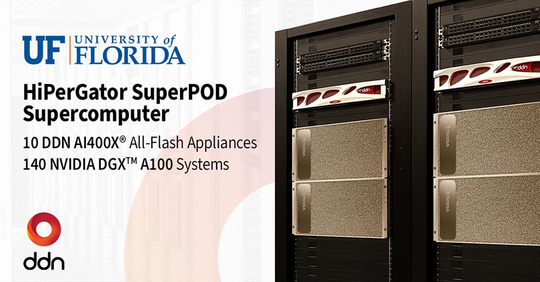 フロリダ大学、DDN A3IソリューションとNVIDIA GDX SuperPODアーキテクチャを採用